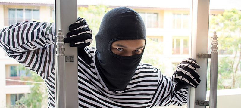 Understanding homeowners insurance coverage with regards to theft.