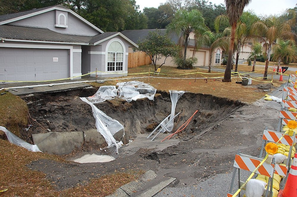 Homeowners insurance coverage and sinkhole damage